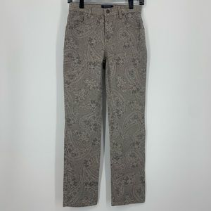 Charter Club Pants Classic Straight Paisley Grey